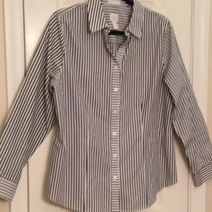 Chico's size 2 striped shirt
